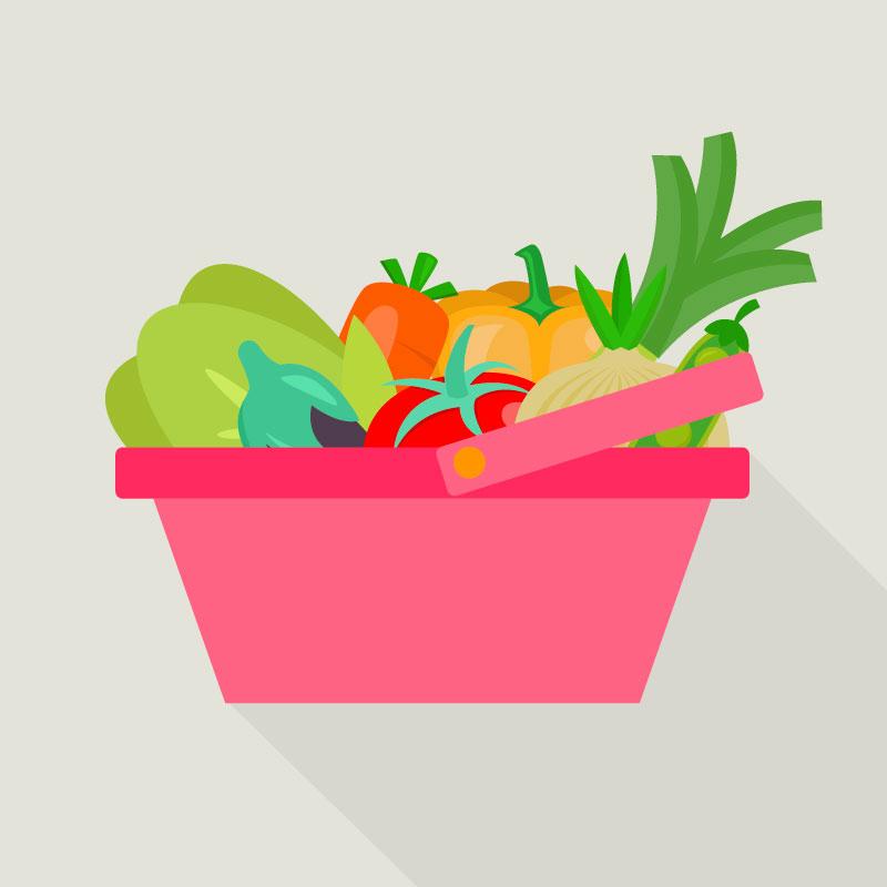 cesta compra verduras